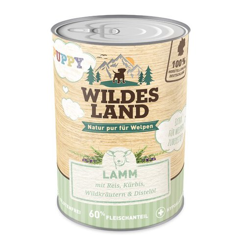 Wildes Land - Puppy Lamm mit Reis 400g